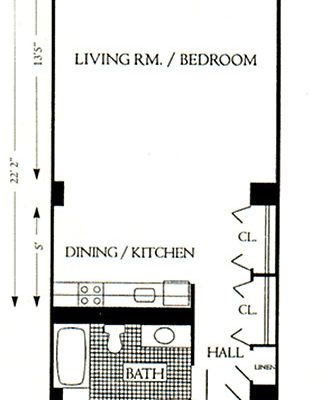 "Unit Type ""B"", 687 sqft"