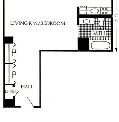 "Unit Type ""D"", 540 sqft"
